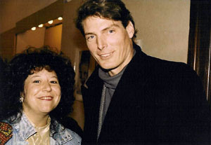Laurie Sue with Christopher Reeve